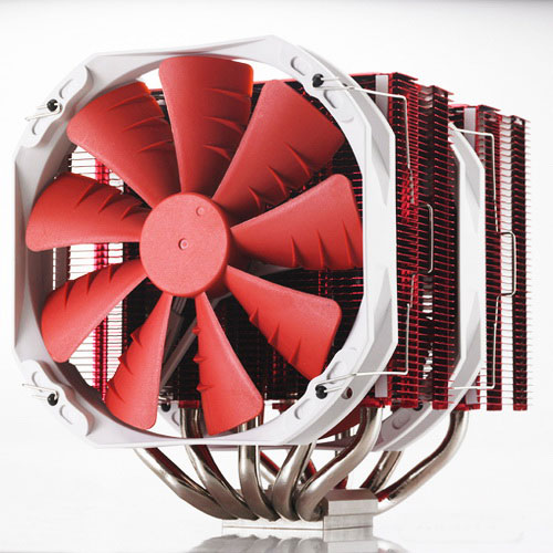 Ventilateur processeur Phanteks PH-TC14PE Rouge Ventilateur pour processeur (pour socket Intel 775 / 1155 / 1156 / 1366 et AMD AM2 / AMD3 / AM3+)