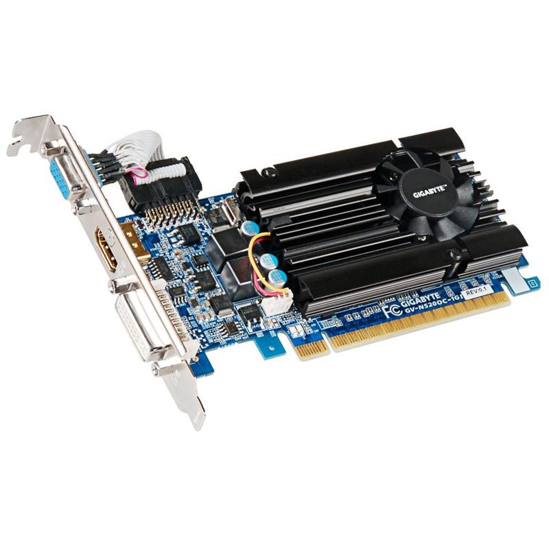Carte graphique Gigabyte N520OC-1GI 1 Go DVI/HDMI - PCI Express (NVIDIA GeForce avec CUDA GT 520)