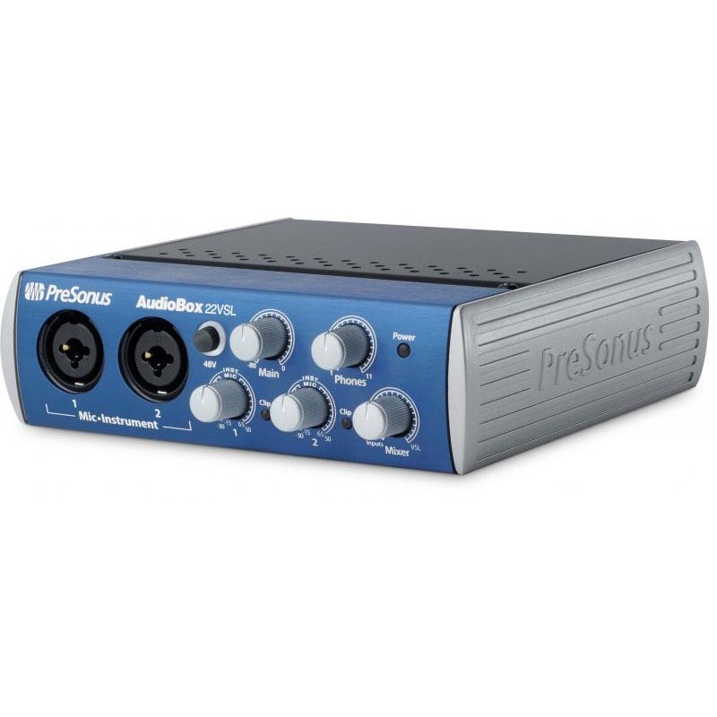 Interface Audio PreSonus AudioBox 22 VSL Interface audio/MIDI USB 2.0 2 x 2 avec préamplis