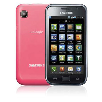 samsung i9000 galaxy s rose mobile smartphone samsung. Black Bedroom Furniture Sets. Home Design Ideas