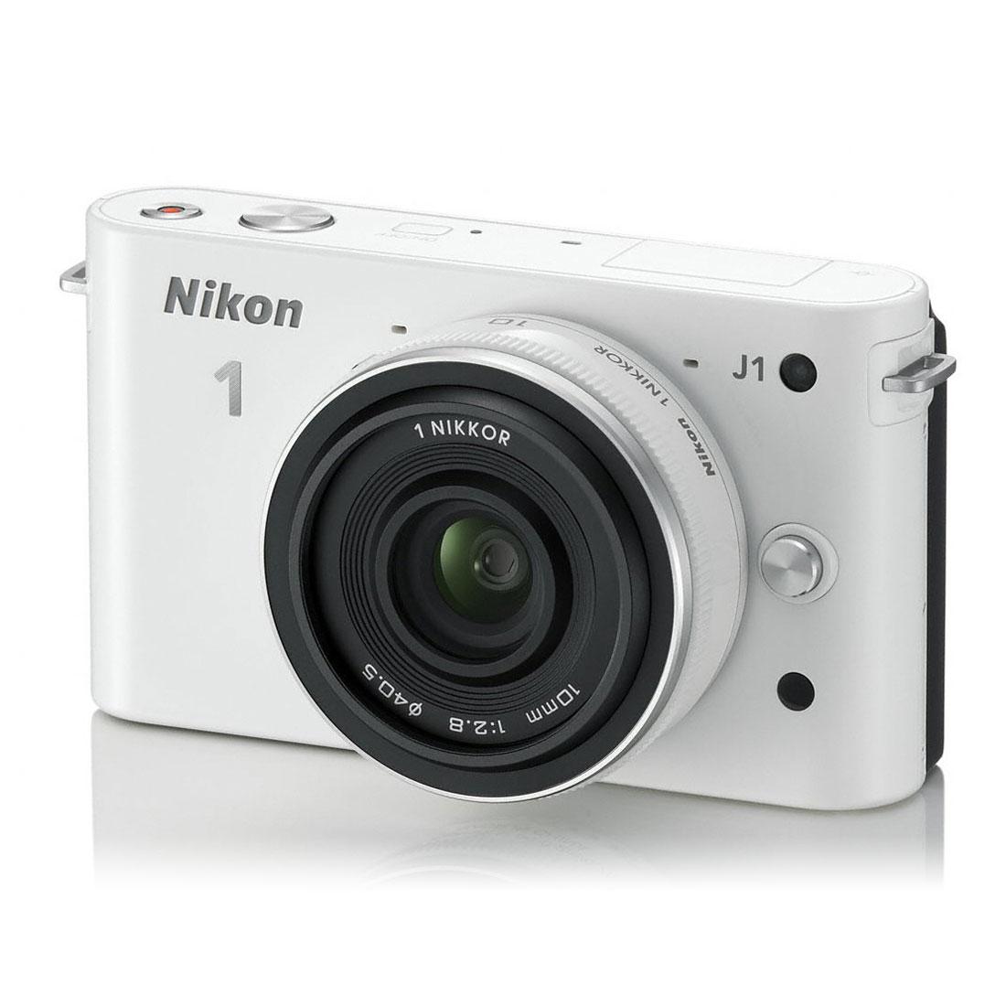 nikon 1 j1 blanc objectif 1 nikkor 10 mm f 2 8 appareil photo hybride nikon sur ldlc. Black Bedroom Furniture Sets. Home Design Ideas