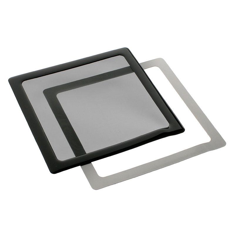 Accessoires Tuning PC Filtre à poussière magnétique carré 200 mm (cadre noir, filtre noir) Filtre à poussière magnétique carré 200 mm (cadre noir, filtre noir)