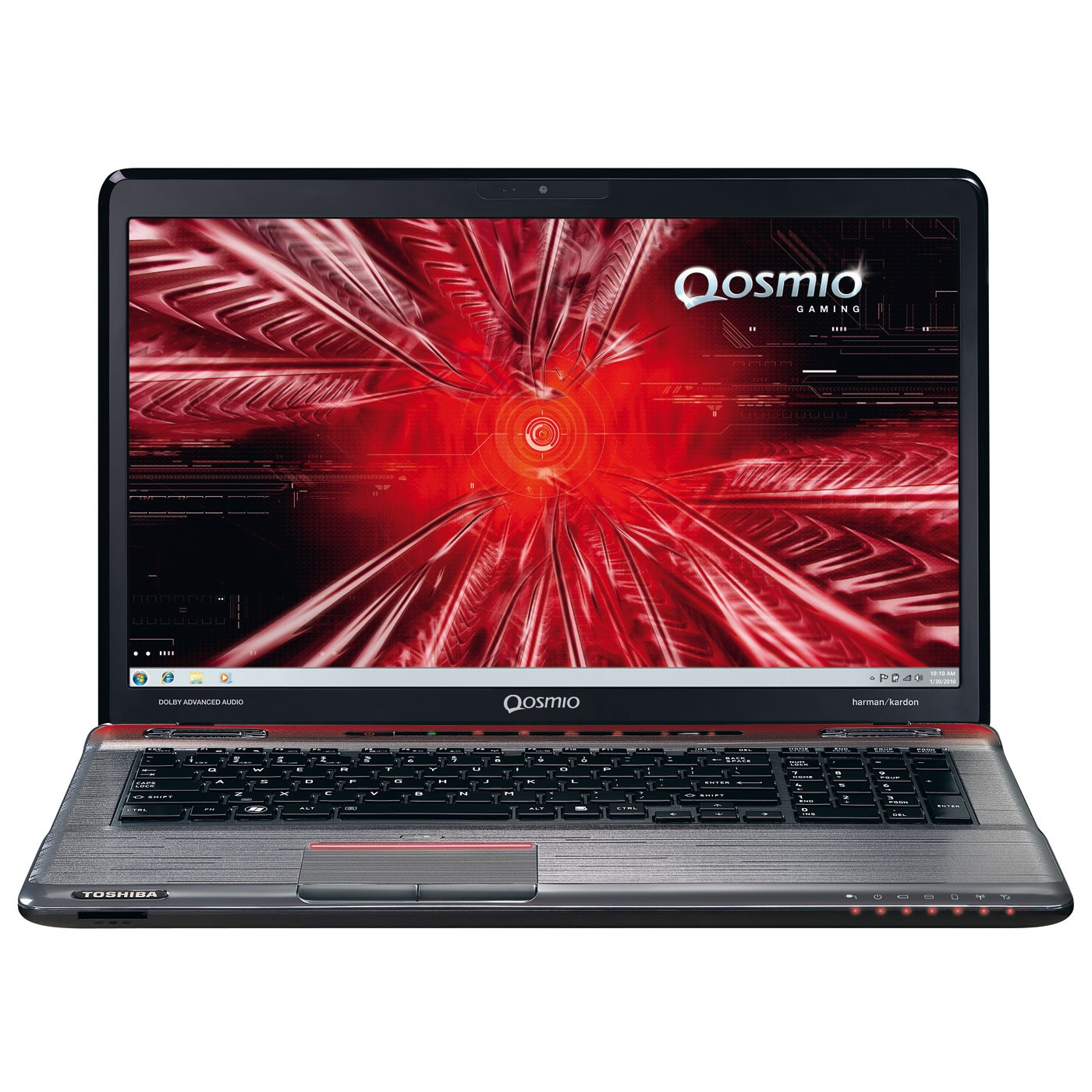 "PC portable Toshiba Qosmio X770-127 Intel Core i7-2670QM 4 Go 1 To (2x 500 Go) 17.3"" LED NVIDIA GeForce GTX 560M Lecteur Blu-ray/Graveur DVD Wi-Fi N/Bluetooth Webcam Windows 7 Premium 64 bits"