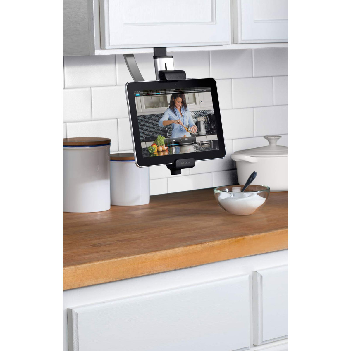 Belkin kitchen cabinet mount accessoires tablette belkin for Tablette cuisine