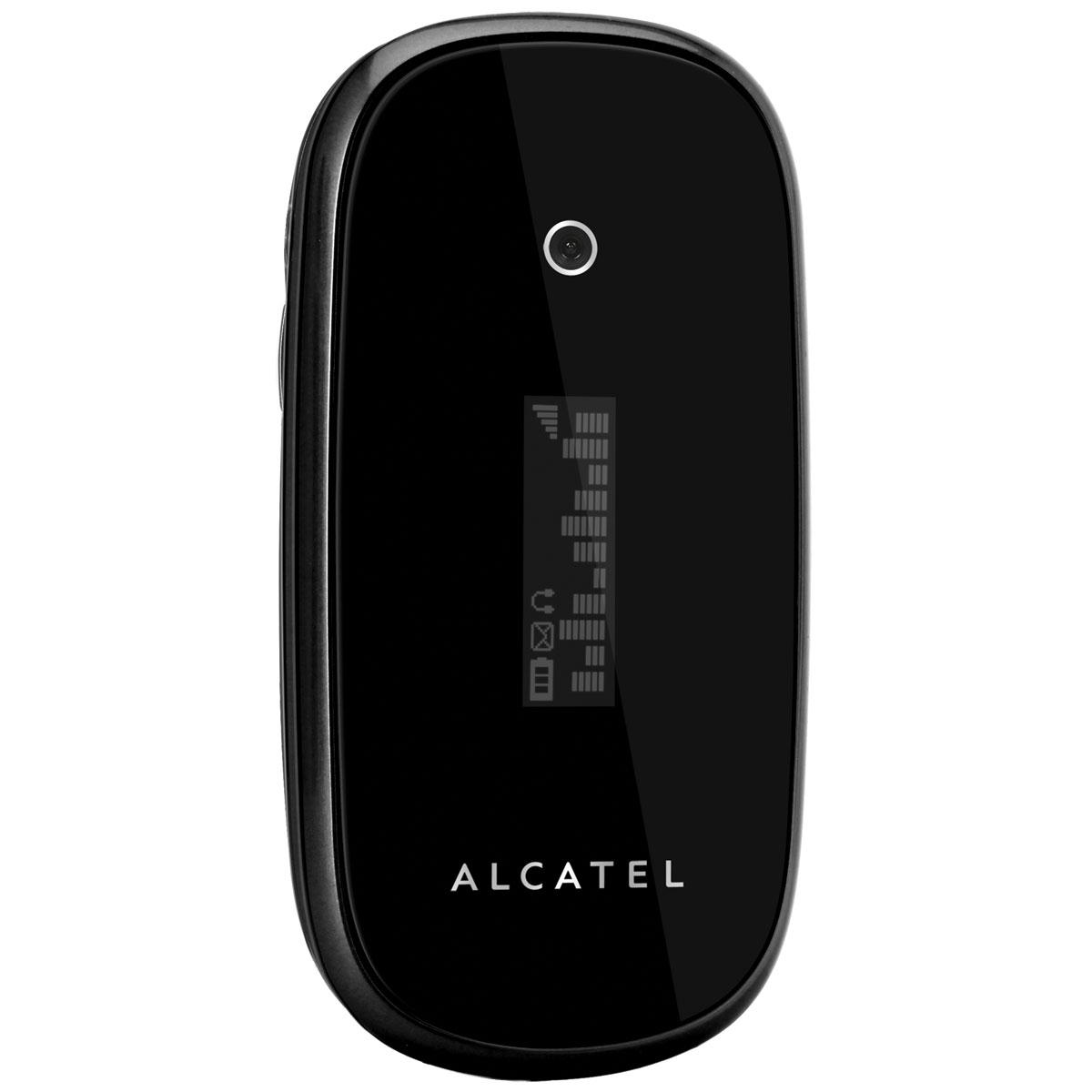 """Mobile & smartphone Alcatel OT-665 Noir Téléphone 2G avec écran 1.77"""" et écran externe OLED"""