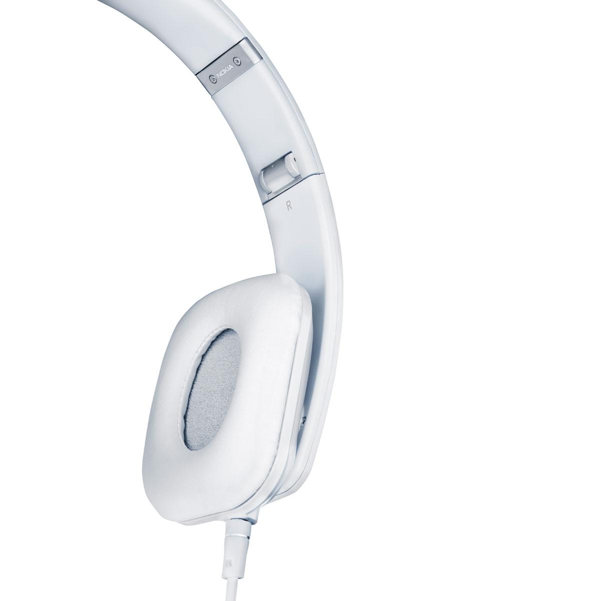 Kit piéton et Casque Nokia Casque stéréo Purity HD Blanc Casque supra-auriculaire avec micro et contrôle Nokia Lumia