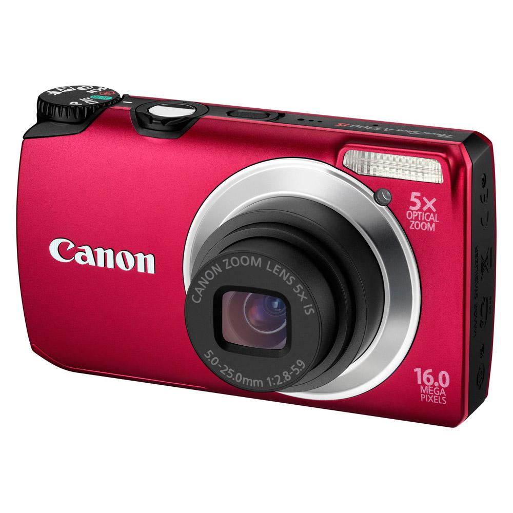 Appareil photo numérique Canon Powershot A3300 IS Rouge Appareil photo 16 MP - Zoom 5x - Vidéo HD