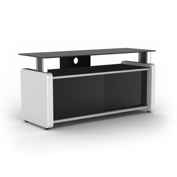Elmob karya ka 105 02 blanc meuble tv elmob sur ldlc - Meuble tv pour home cinema ...