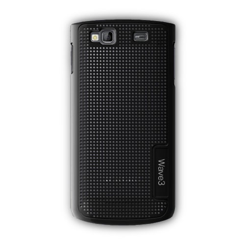 Etui téléphone Samsung Coque Microperforée Wave III Noire Coque de protection pour Samsung Wave III