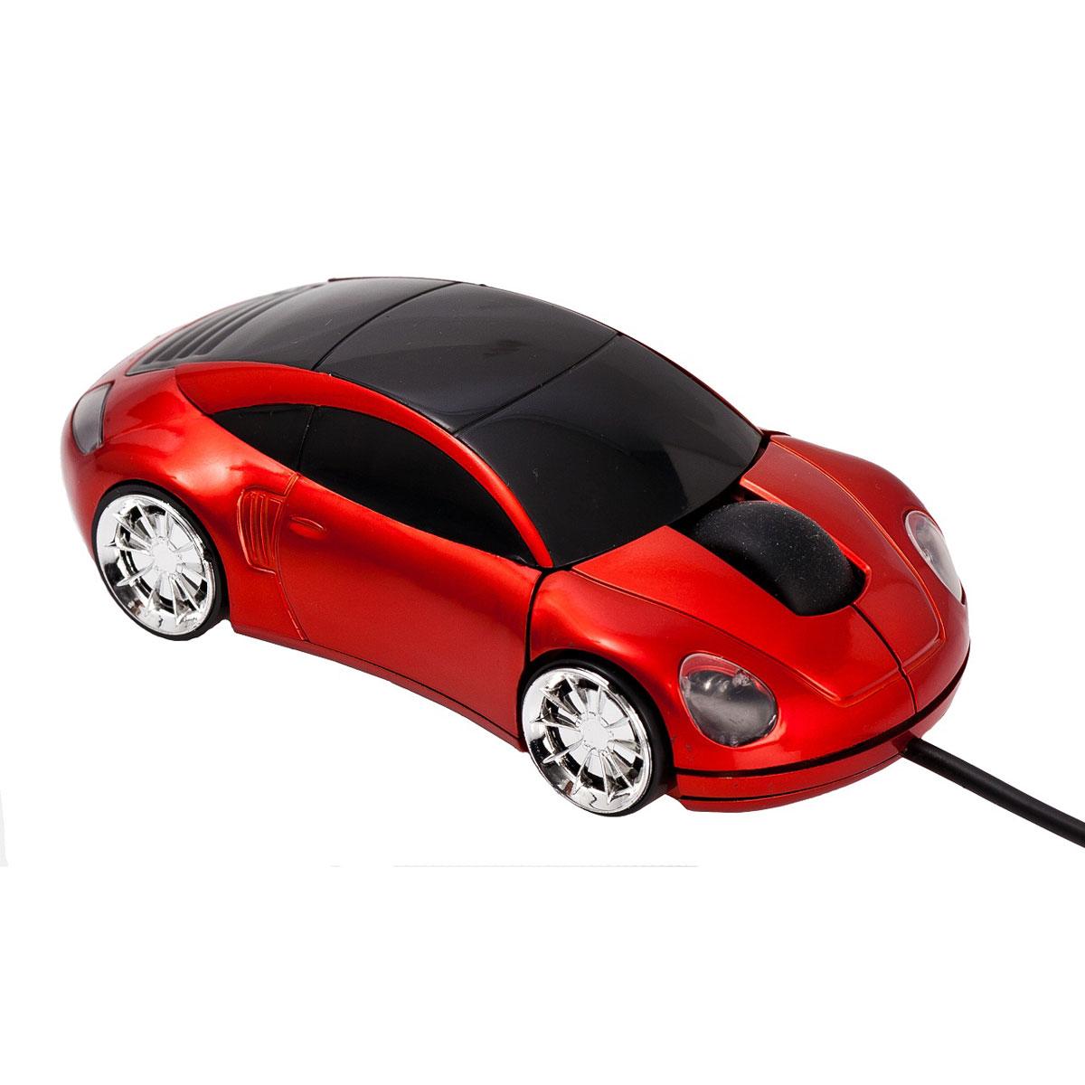 Souris PC Bluestork MRoad Rouge Souris filaire USB voiture avec molette