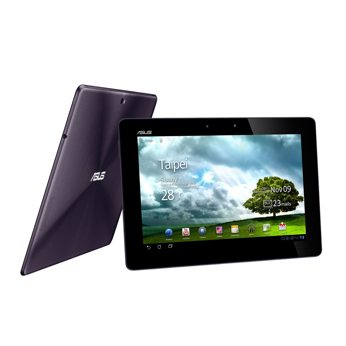 "Tablette tactile ASUS Eee Pad Transformer Prime TF201 Grise 32 Go Tablette Internet avec dock clavier - NVIDIA Tegra 3 SSD 32 Go 10.1"" LED Wi-Fi N/Bluetooth Webcam Android 3.2"