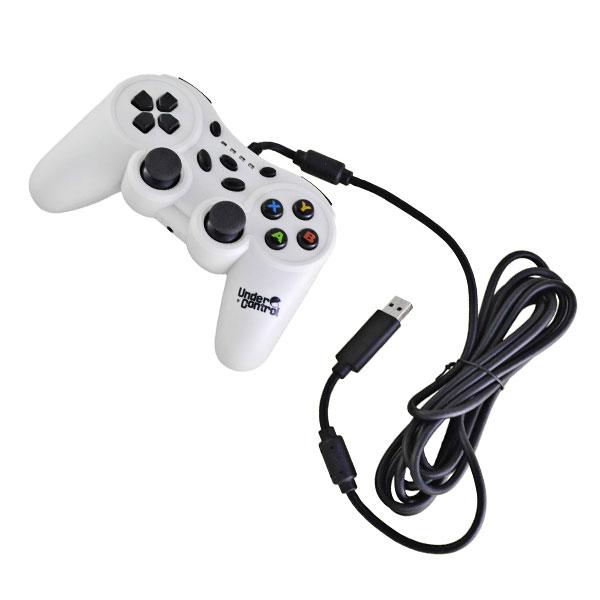 Accessoires Xbox 360 Under Control Manette filaire blanche (Xbox 360) Joypad filaire pour Xbox 360