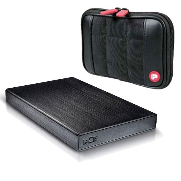 Disque dur externe LaCie Rikiki 1 To (USB 3.0) + Port Designs Berlin OFFERTE ! Disque dur portable ultra compact sur port USB 3.0 (garantie LaCie 2 ans) + housse de transport OFFERTE !