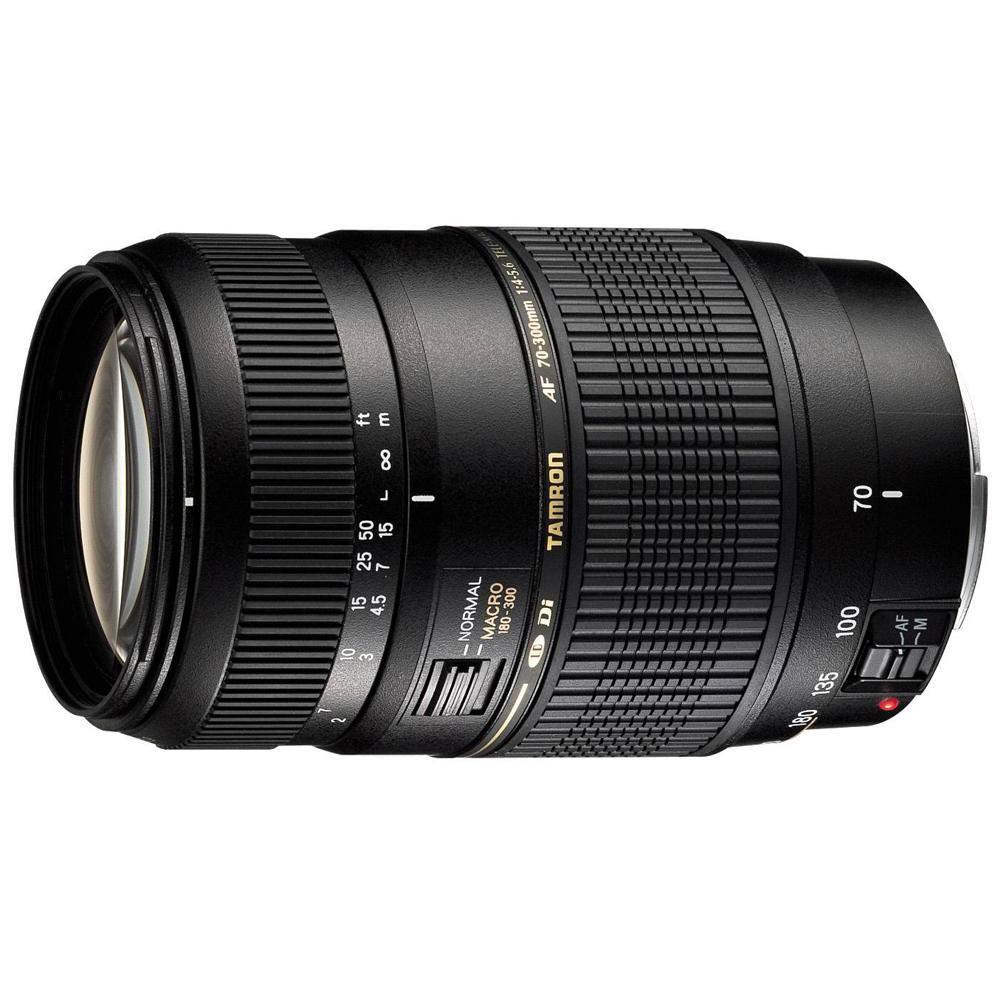 Objectif appareil photo Tamron AF 70-300mm F/4-5,6 Di LD MACRO 1:2 monture Nikon Télézoom compact