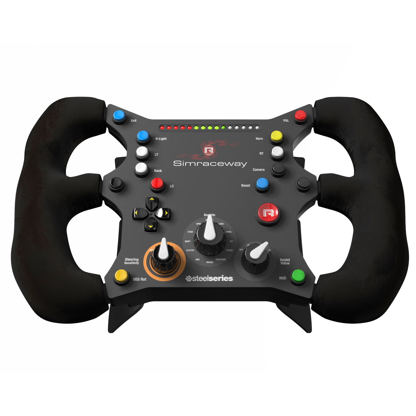 steelseries simraceway srw s1 steering wheel volant pc steelseries sur ldlc. Black Bedroom Furniture Sets. Home Design Ideas