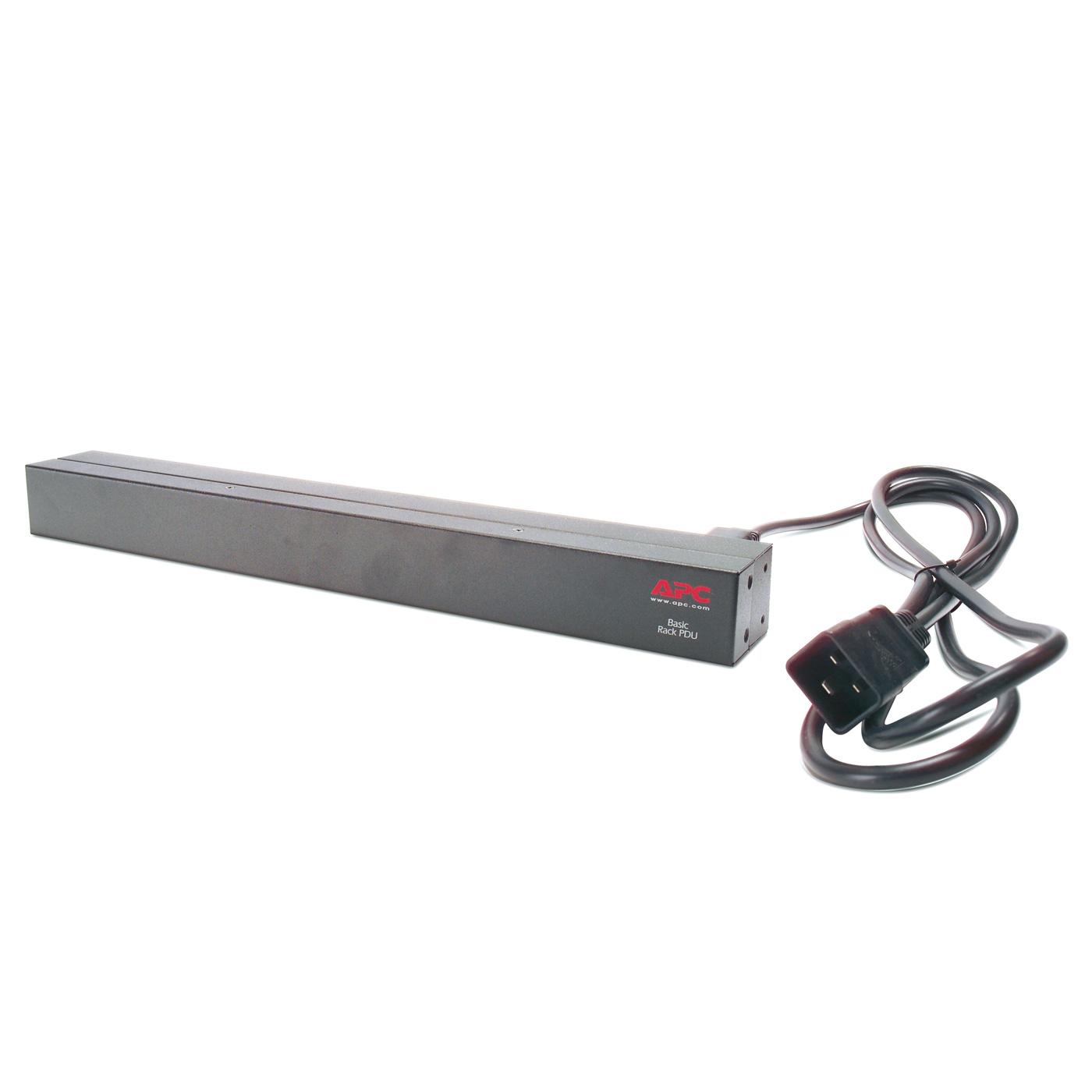 Rack APC Basic Rack PDU Unité de distribution d'alimentation 12 prises IEC 320 C13 200/230V 16A (Rack 1U)