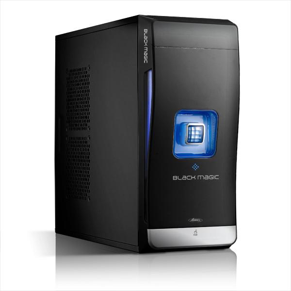 Boîtier PC Advance Black Magic Bleu + un Lecteur de Cartes Flash Offert Boîtier Moyen tour