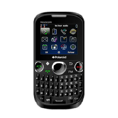 """Mobile & smartphone Polaroid PROZ023 Noir Smartphone 2G avec écran 2"""", 2 ports pour cartes SIM et clavier complet"""