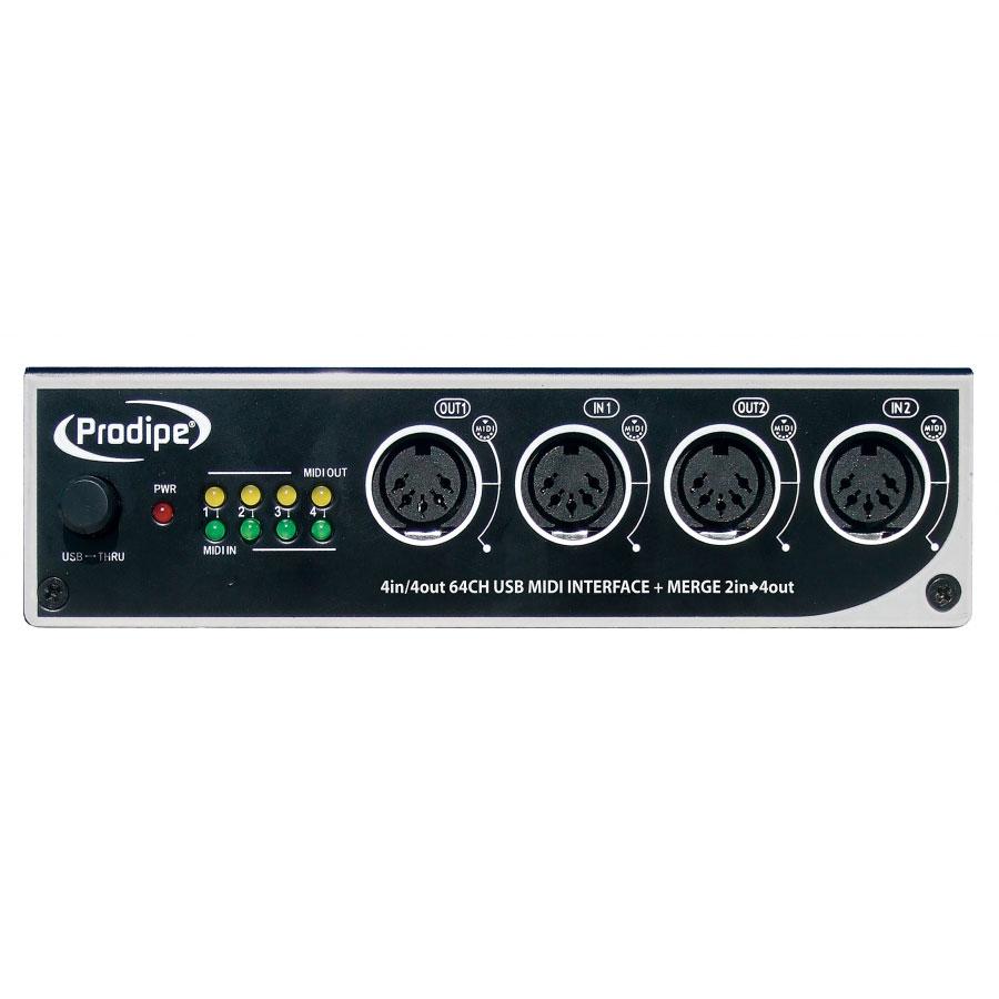 Interface Audio Prodipe MIDI USB 4i4o Interface MIDI USB 4 entrée 4 sorties