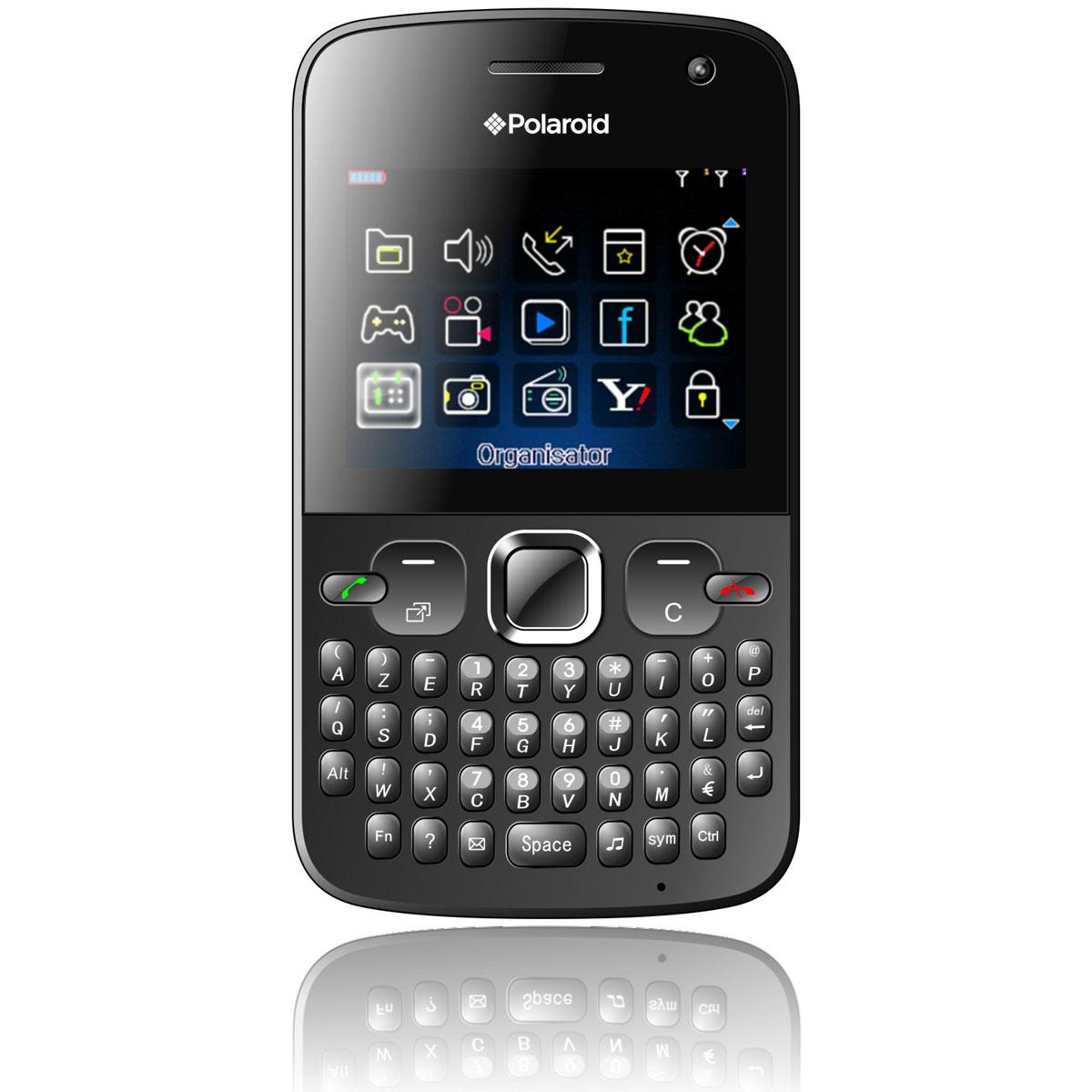 """Mobile & smartphone Polaroid PRO Z550 Noir Smartphone 2G avec écran 2.3"""", 2 ports pour cartes SIM et clavier complet AZERTY"""