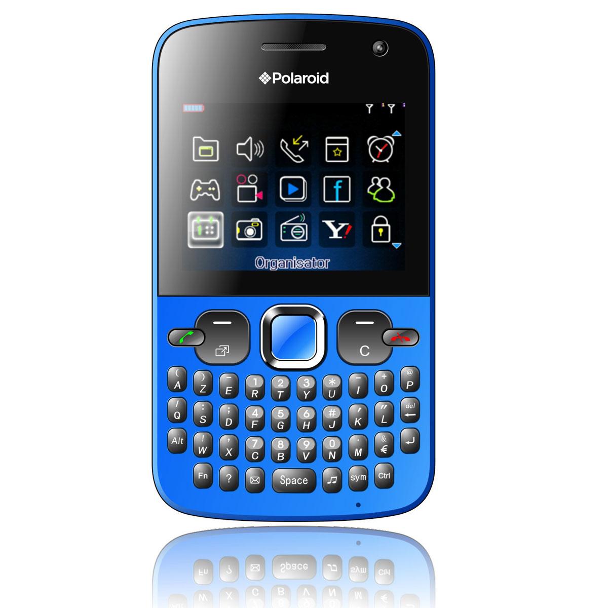 """Mobile & smartphone Polaroid PRO Z550 Bleu Smartphone 2G avec écran 2.3"""", 2 ports pour cartes SIM et clavier complet AZERTY"""