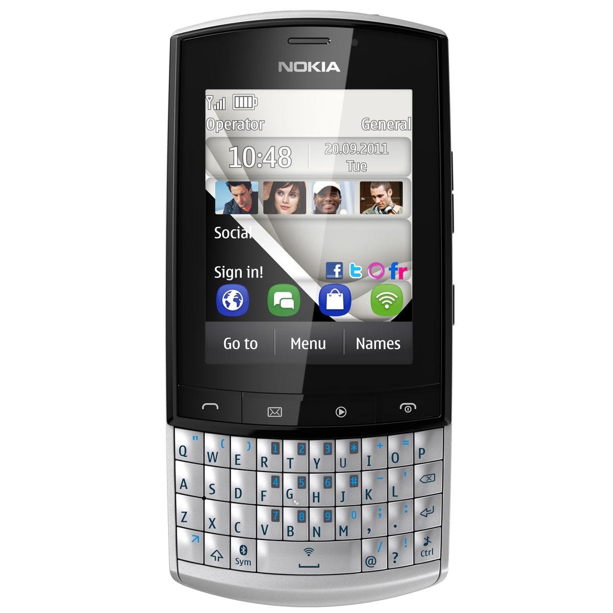 nokia asha 303 blanc a00003946 achat vente mobile smartphone sur. Black Bedroom Furniture Sets. Home Design Ideas
