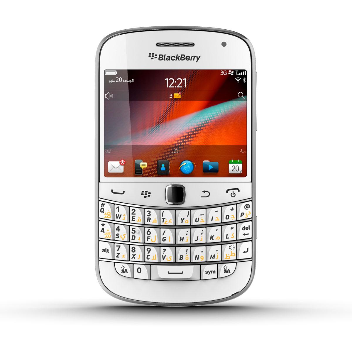 Blackberry bold 9900 qwerty blanc prd 42553 004 achat for Photo ecran blackberry