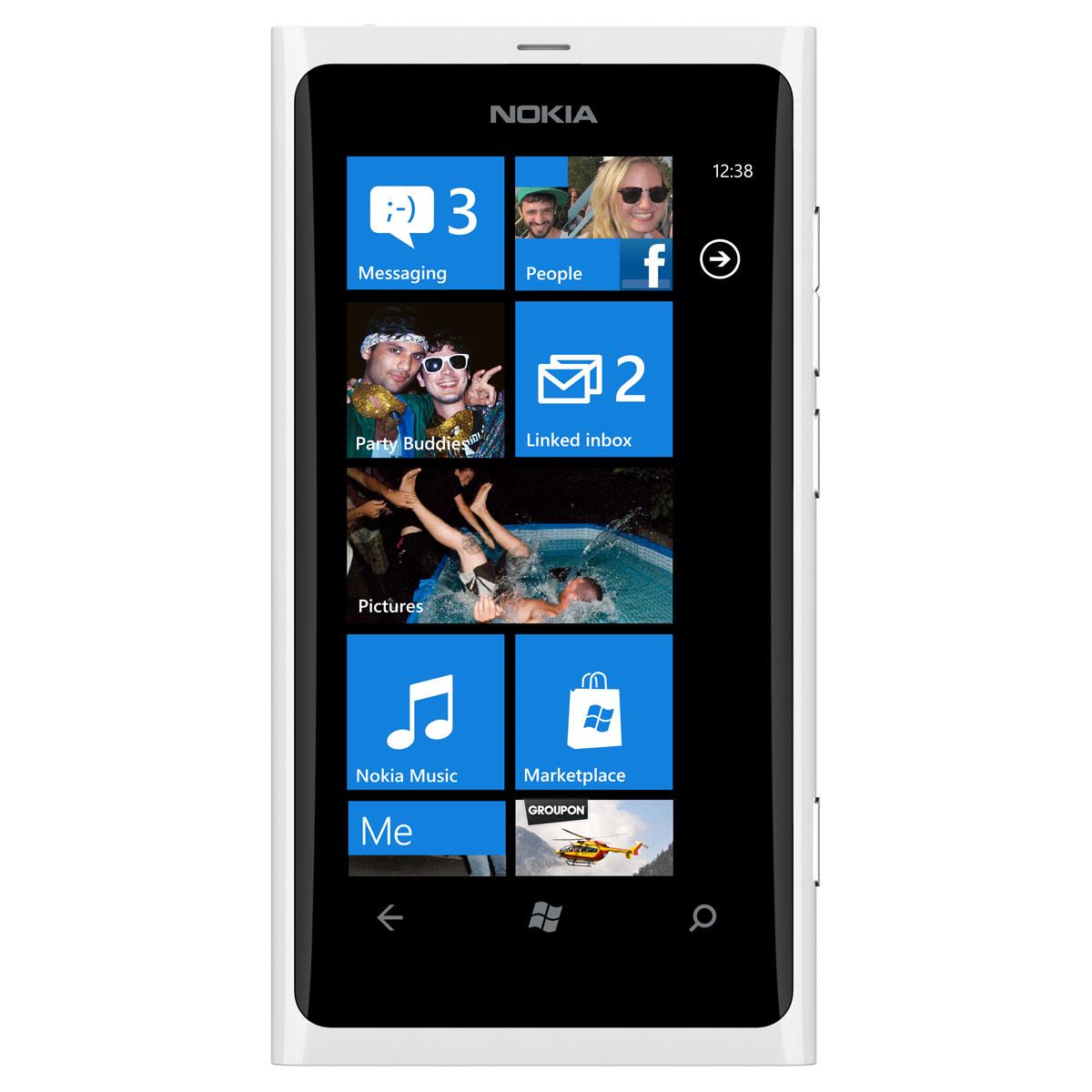 """Mobile & smartphone Nokia Lumia 800 Blanc Smartphone 3G+ avec écran tactile intégral 3.7"""" sous Windows Phone 7.5"""