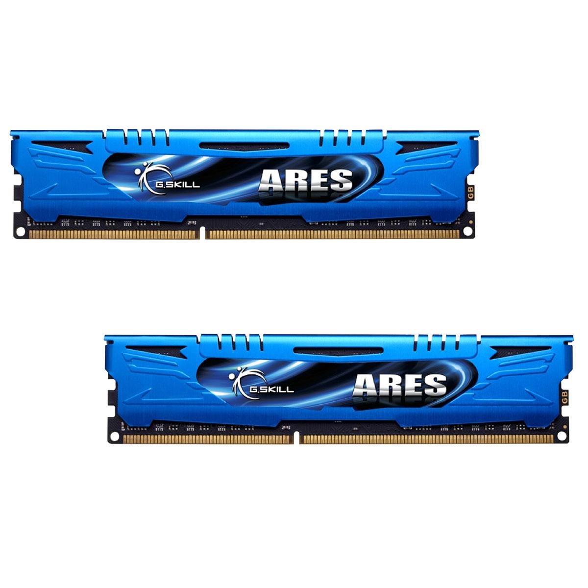 Mémoire PC G.Skill Ares Blue Series 16 Go (2 x 8 Go) DDR3 2400 MHz CL11 Kit Dual Channel DDR3 PC3-19200 - F3-2400C11D-16GAB (garantie à vie par G.Skill)