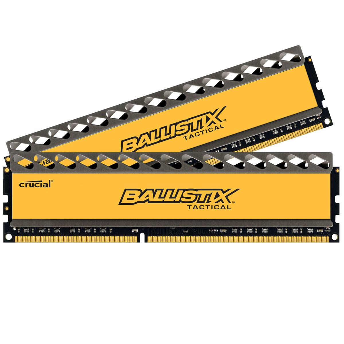 Mémoire PC Ballistix Tactical 8 Go (2 x 4 Go) DDR3 1600 MHz CL8 Kit Dual Channel RAM DDR3 PC12800 - BLT2CP4G3D1608DT1TX0CEU (garantie à vie par Crucial)