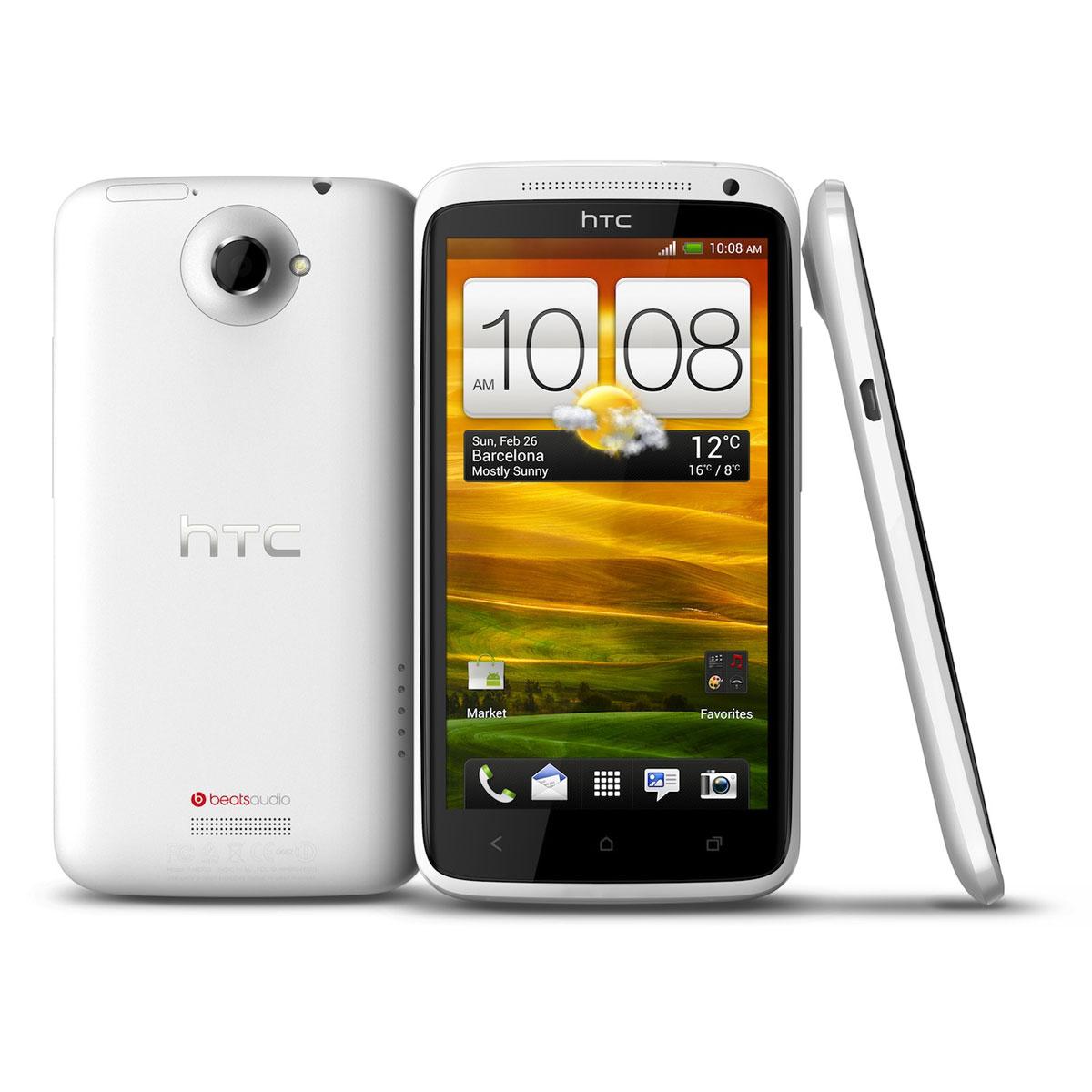 "Mobile & smartphone HTC One X Blanc 32 Go Smartphone 3G+ avec écran tactile 4.7"" sous Android 4.0"