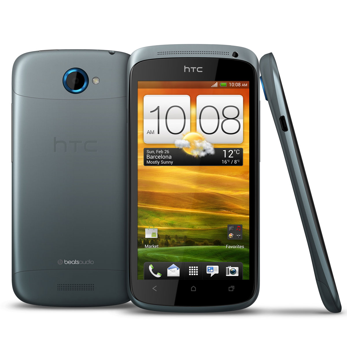 "Mobile & smartphone HTC One S Gris Smartphone 3G+ avec écran tactile 4.3"" sous Android 4.0"