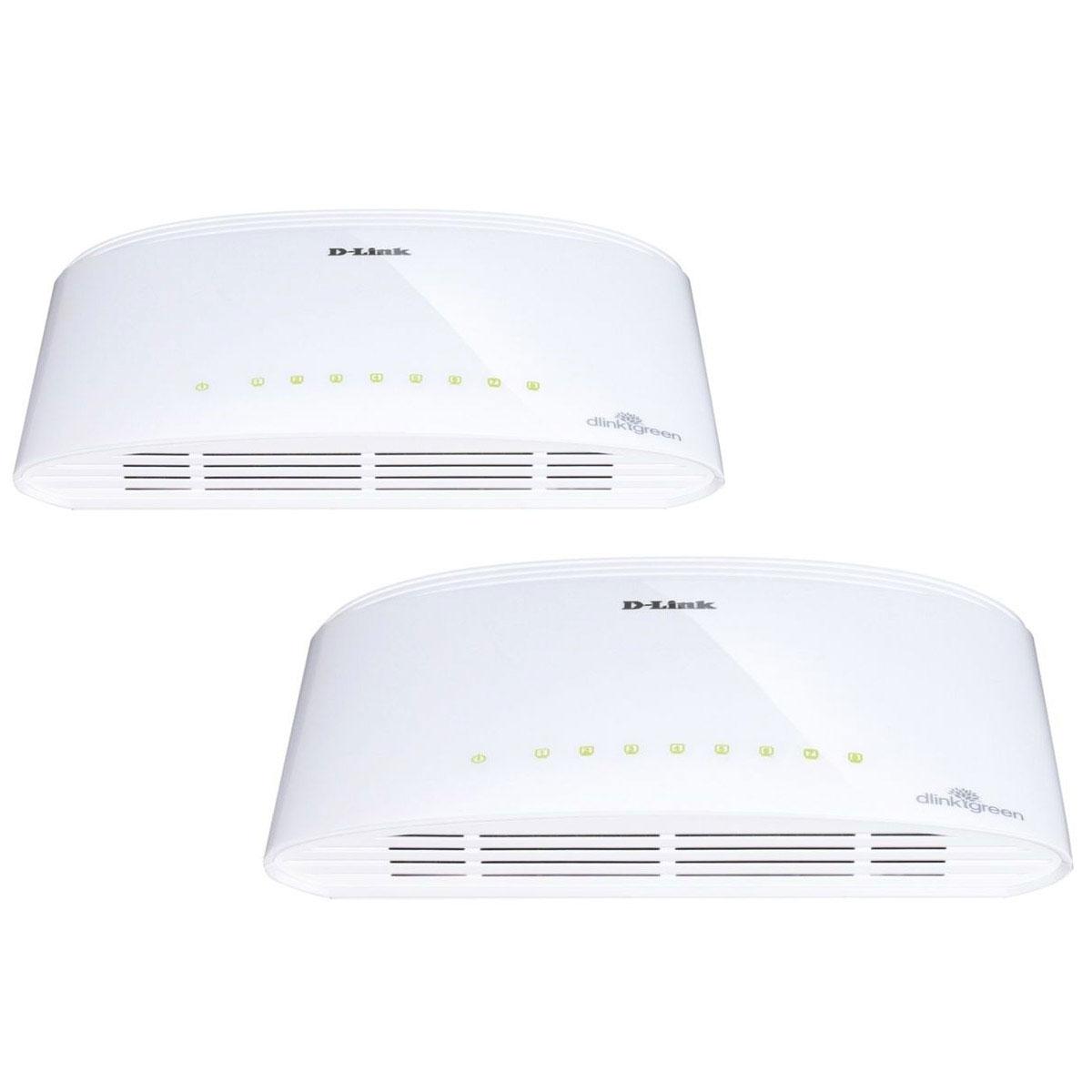 Switch D-Link DGS-1008D x2 Switch Gigabit 8 ports 10/100/1000Mbps - Pack de 2