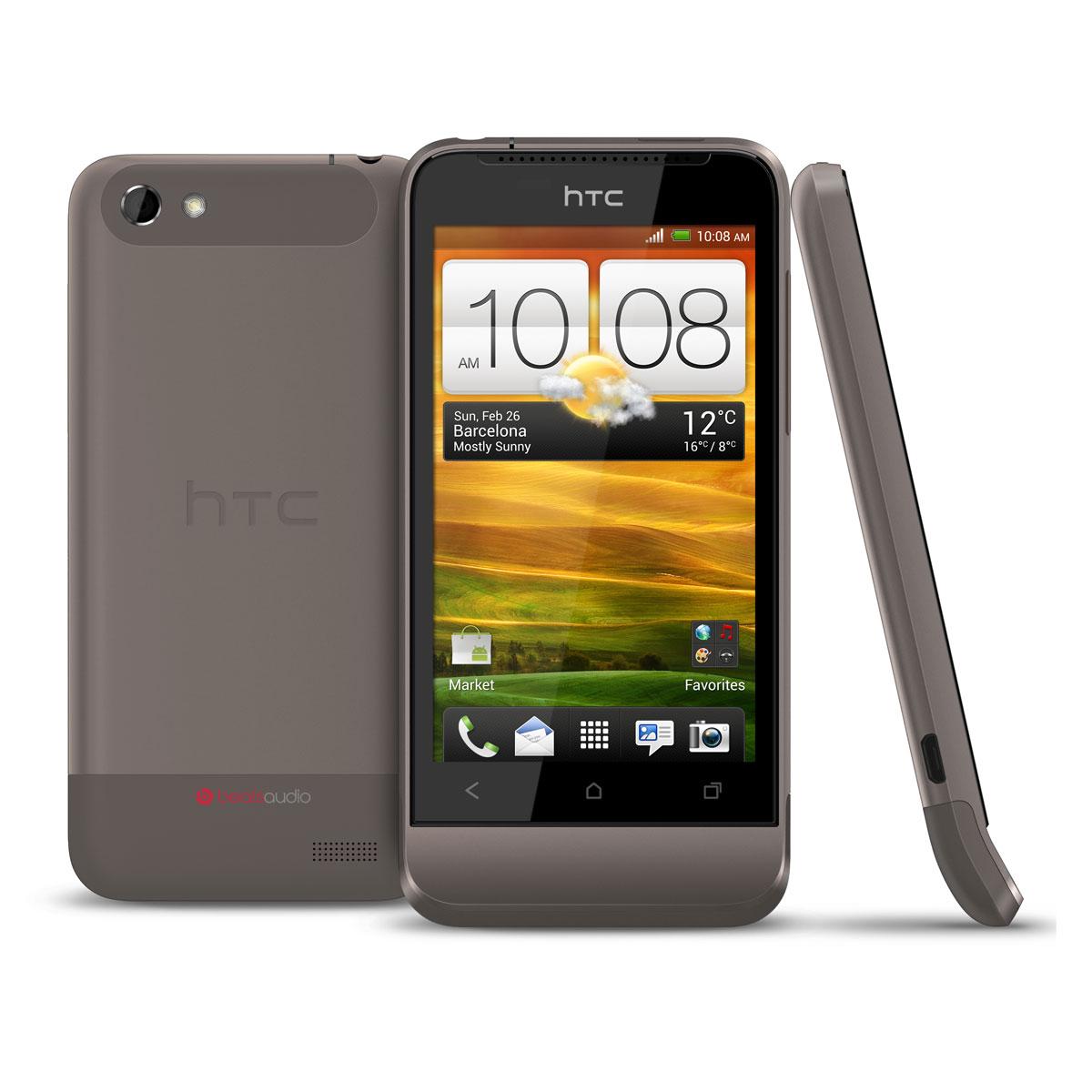 "Mobile & smartphone HTC One V Jupiter Rock Smartphone 3G+ avec écran tactile 3.7"" sous Android 4.0"