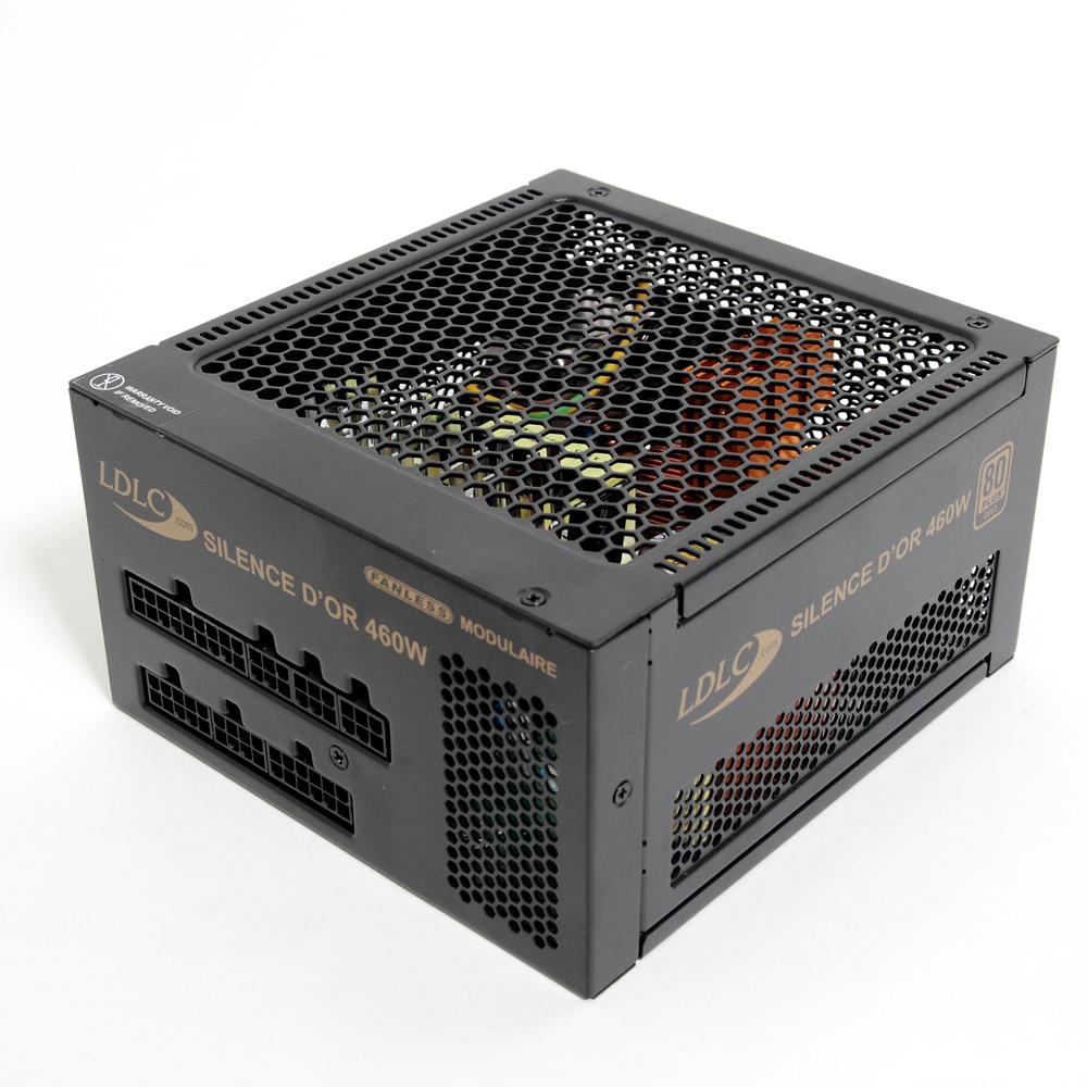 Alimentation PC LDLC Silence d'or Quality Select Fanless 80PLUS Gold Alimentation modulaire 460W ATX 12V sans ventilateur - 80PLUS Gold