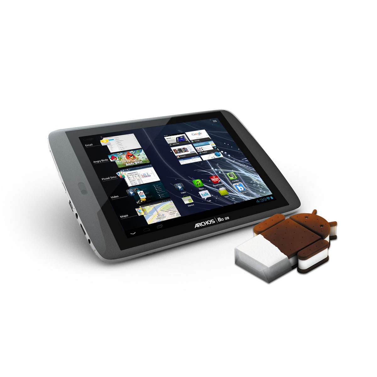 """Tablette tactile Archos 80 G9 Turbo ICS 250 Go Tablette Internet - OMAP 4 Smart multi-core 1.5 GHz 250 Go 8"""" LCD tactile Wi-Fi N/Bluetooth Webcam Android 4.0"""
