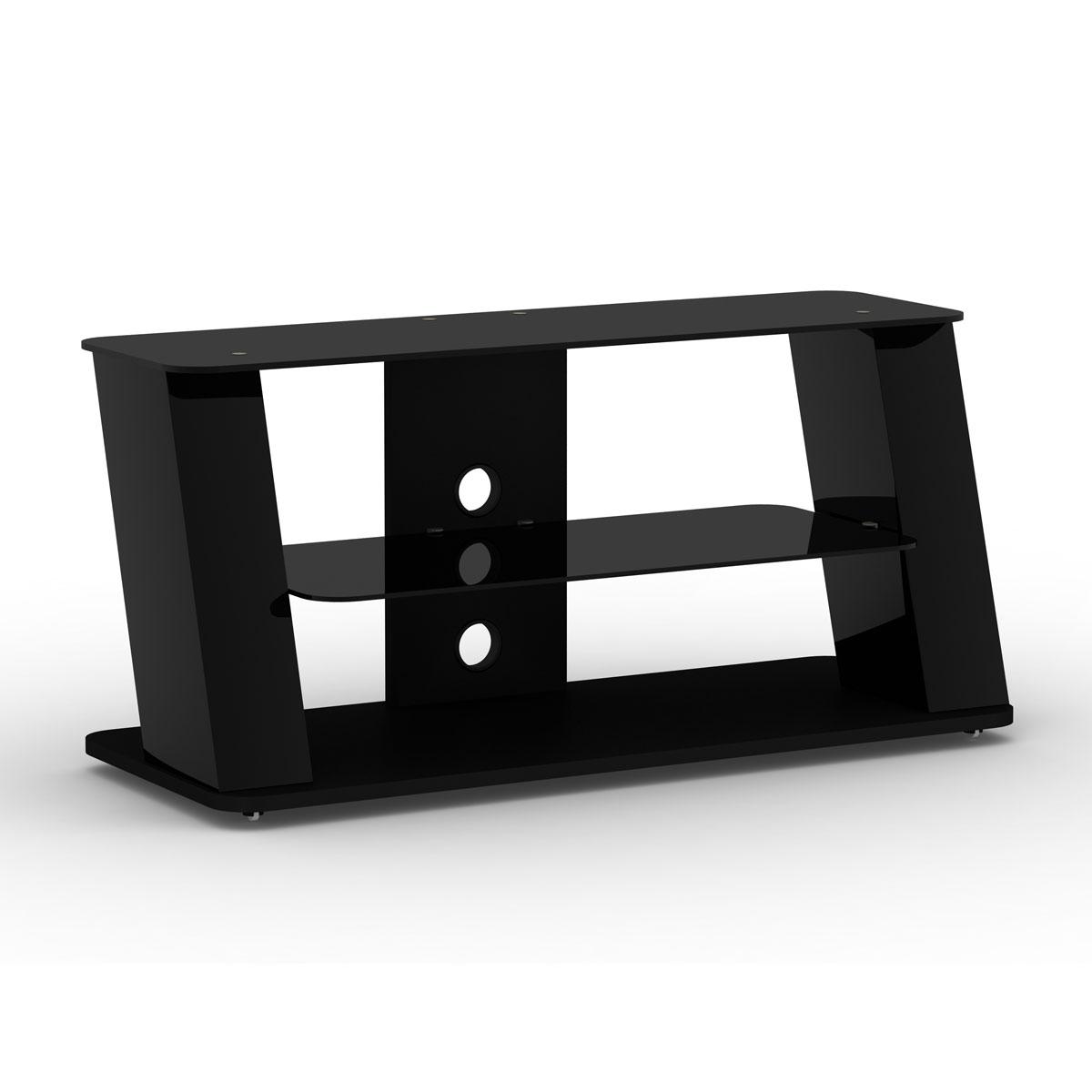 Elmob alexa al 110 04 noir al 110 04 black achat vente meuble tv sur ld - Meuble pour ecran plat ...