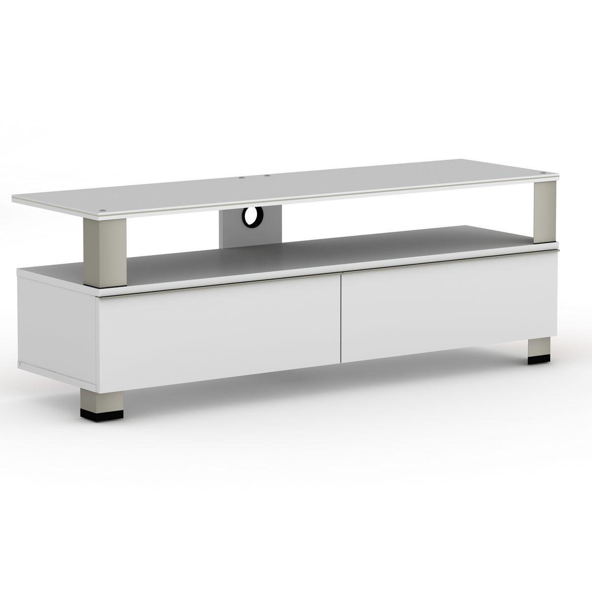 Elmob tura tu 140 03 blanc meuble tv elmob sur ldlc for Meuble tv pour ecran plat 140 cm