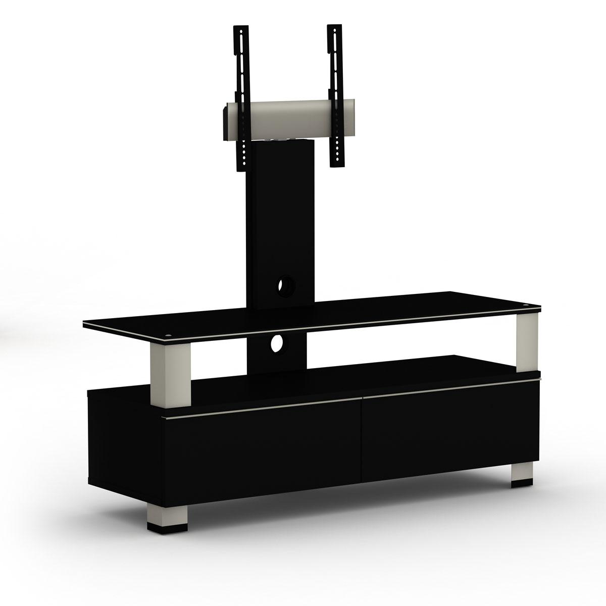 Elmob tura tu 120 02f noir meuble tv elmob sur ldlc - Meuble support tv ecran plat ...