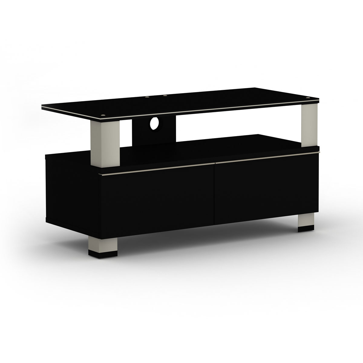 elmob tura tu 095 01 noir meuble tv elmob sur ldlc. Black Bedroom Furniture Sets. Home Design Ideas