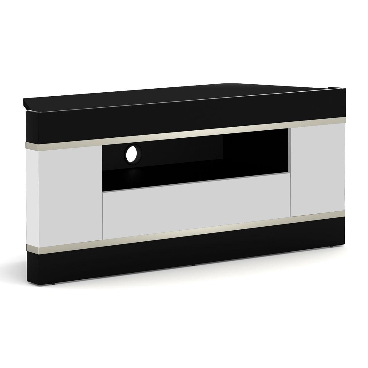 Elmob linos li 110 02 blanc meuble tv elmob sur ldlc for Meuble hifi 110