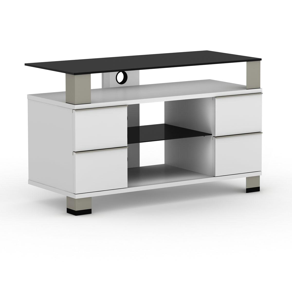 Elmob pone pn 095 01 blanc meuble tv elmob sur ldlc - Meuble pour ecran plat ...