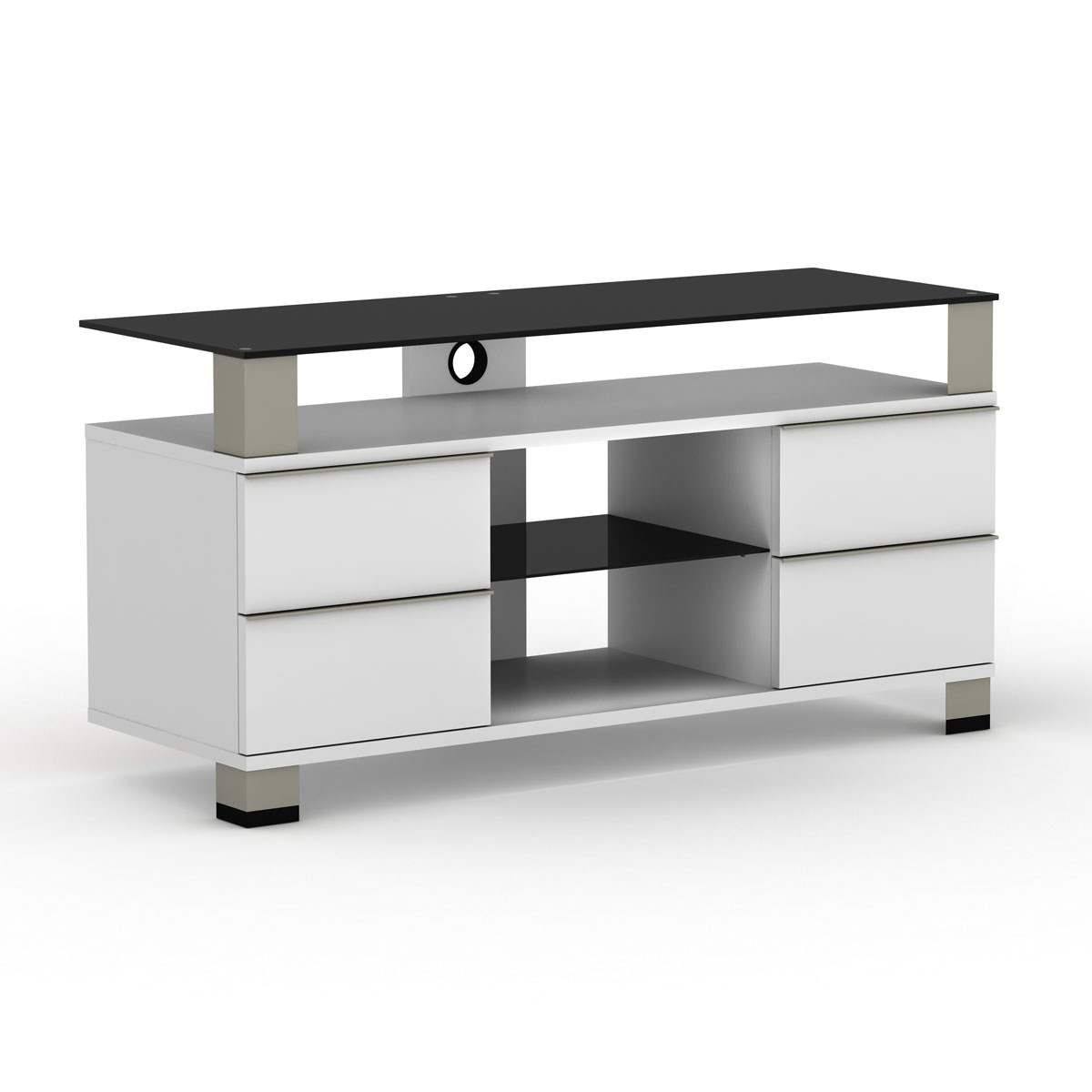 Elmob pone pn 120 02 blanc meuble tv elmob sur ldlc - Meuble television ecran plat ...