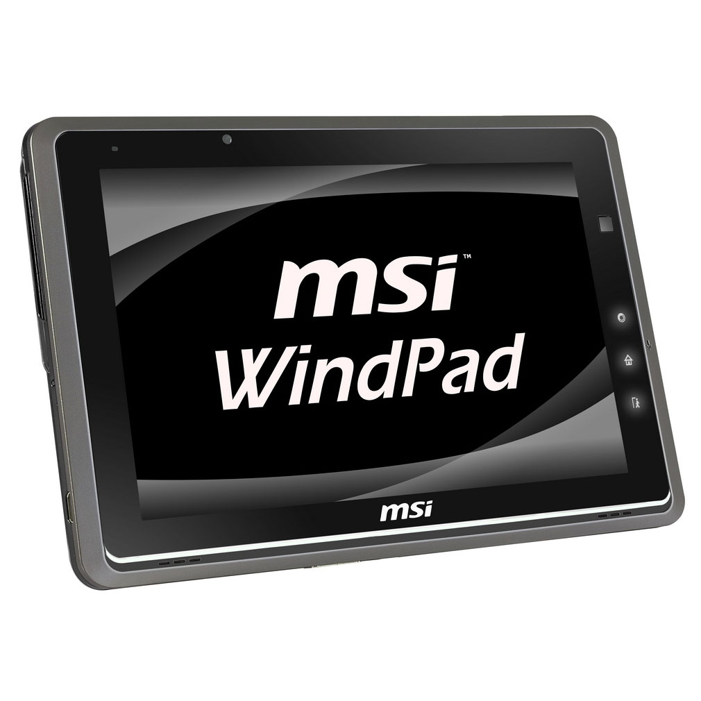 "Tablette tactile MSI WindPad 110W-086 Tablette Internet AMD Z-01 2 Go SSD 32 Go 10.1"" LCD tactile Wi-Fi N Webcam Windows 7 Premium 64 bits"