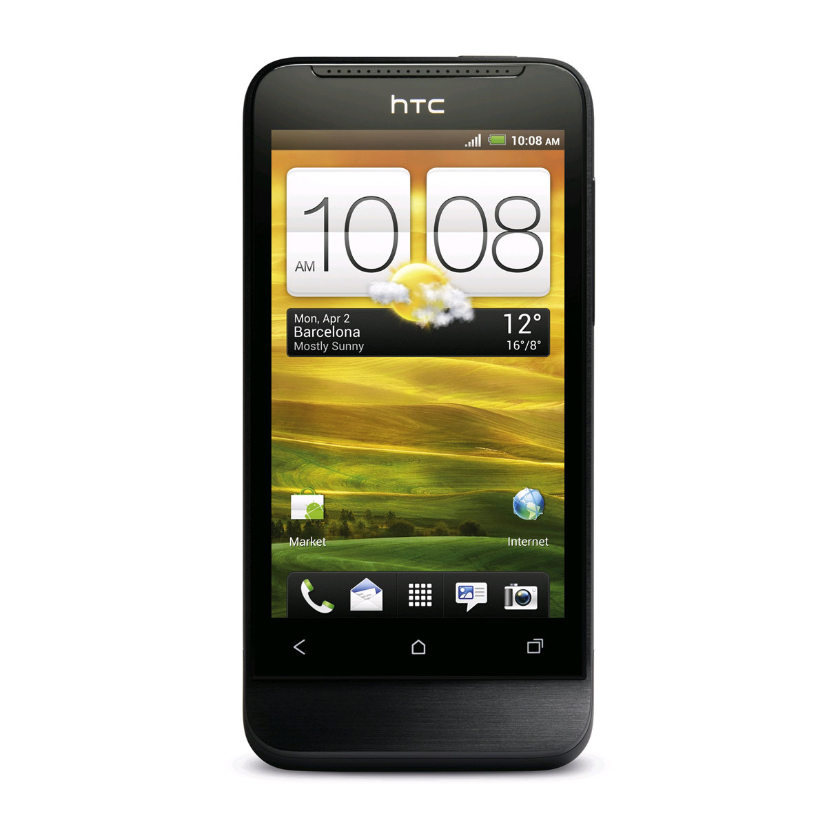"Mobile & smartphone HTC One V Black Obsidian Smartphone 3G+ avec écran tactile 3.7"" sous Android 4.0"