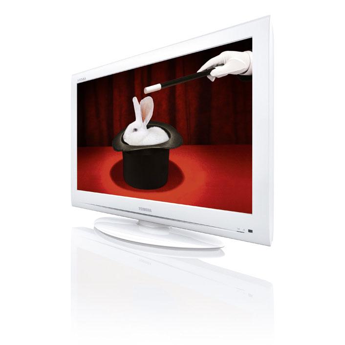 "TV Toshiba 32AV834 Blanc Téléviseur LCD 32"" (81 cm) 16/9 - 1366 x 768 pixels - Tuner TNT HD et Câble - HDTV"