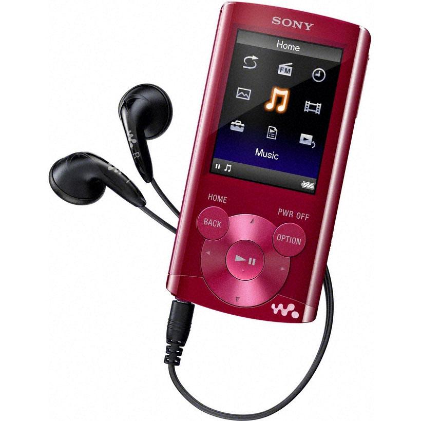 """Lecteur MP3 & iPod Sony NWZ-E364 Rouge Lecteur MP3 vidéo 8 Go Ecran 2"""" FM"""