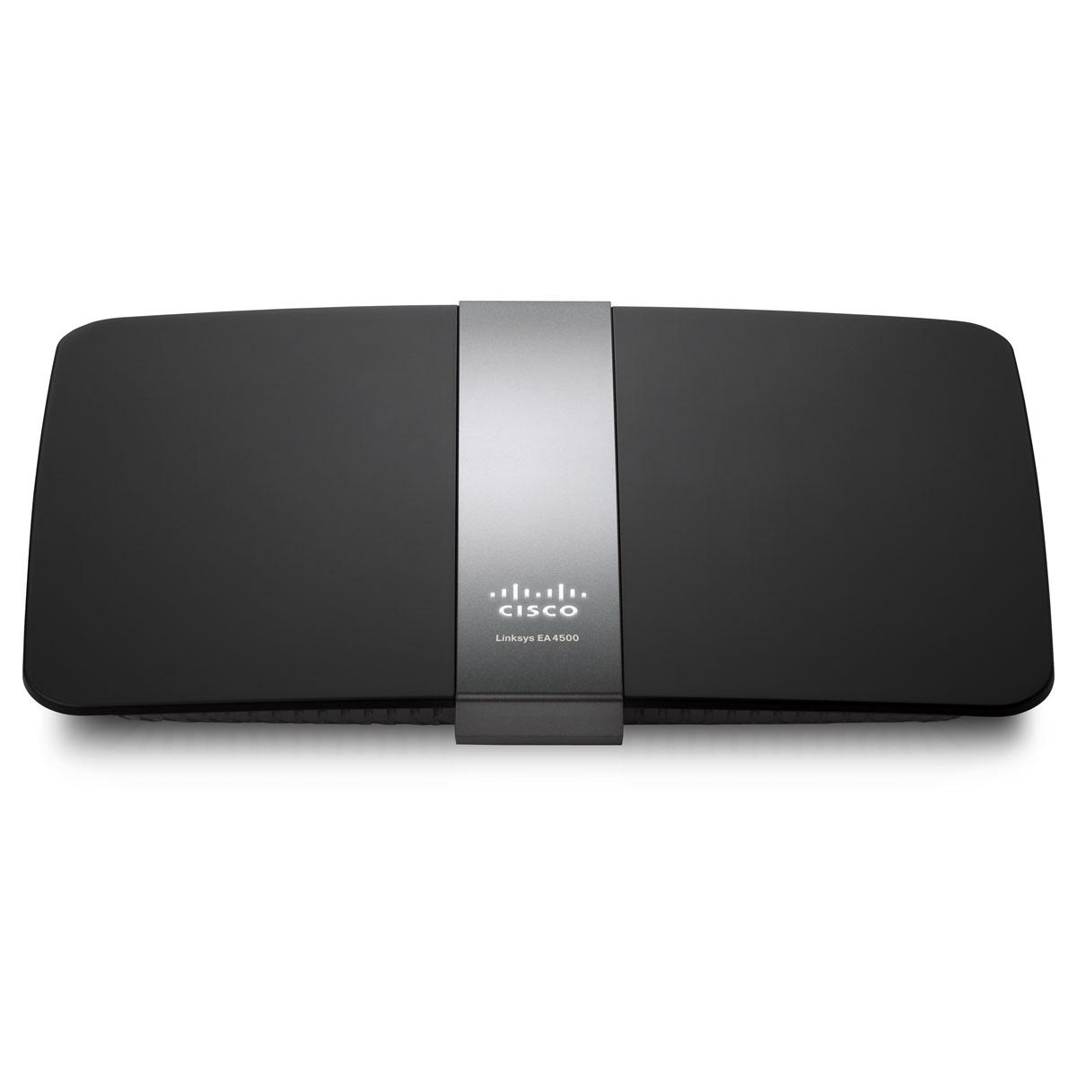 Modem & routeur Linksys EA4500 Routeur haut débit sans fil N 450 Mbps Dual band avec serveur DLNA intégré