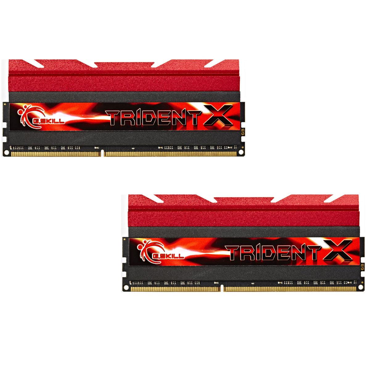 Mémoire PC G.Skill Trident X Series 16 Go (2 x 8 Go) DDR3 1600 MHz CL7 Kit Dual Channel DDR3 PC3-12800 - F3-1600C7D-16GTX (garantie à vie par G.Skill)