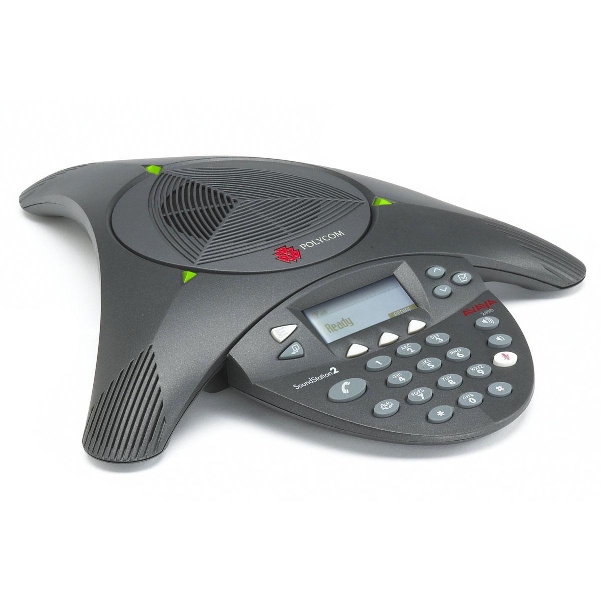 Téléphone filaire Polycom SoundStation2 EX Téléphone de conférence extensible